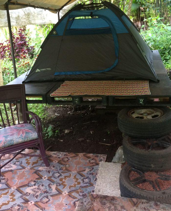 Avocado Tent Camping in Hawaii