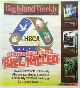 SB2274 Feature Story in the Big Island Weekly