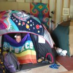 Hedonisia guests camp out in the Yoga Barn