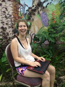 Ecofeminist Intern female traveler in Hawaii