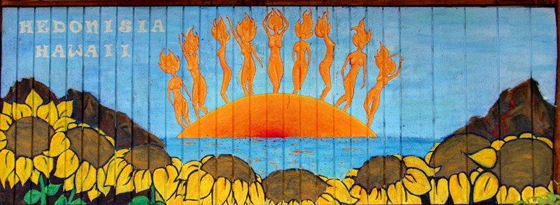 Hedonisia Kitchen Mural