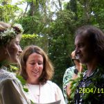Mojo and Leah take their vows on the property in Puna