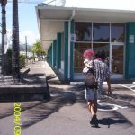 Mojo and Althea in downtown Hilo
